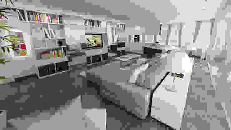 zona living attico Soggiorno moderno di studiosagitair Moderno