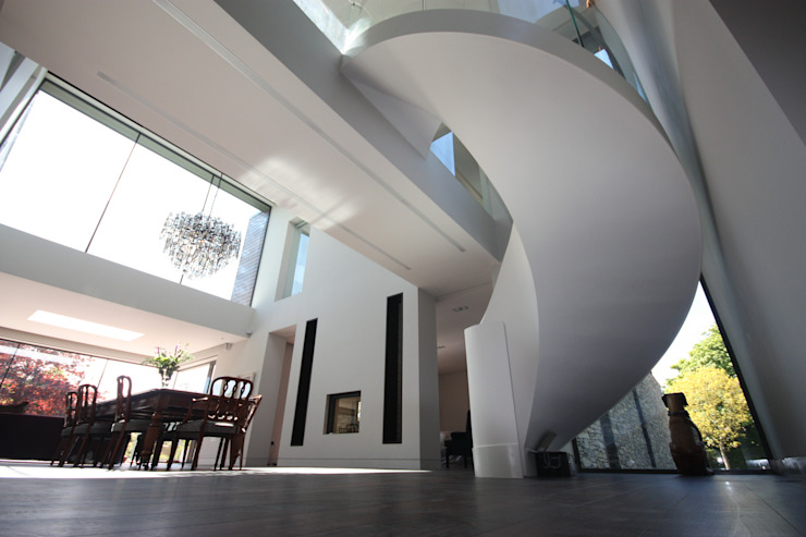 Des Ewing Residential Architects Modern Corridor, Hallway and Staircase by Des Ewing Residential Architects Modern