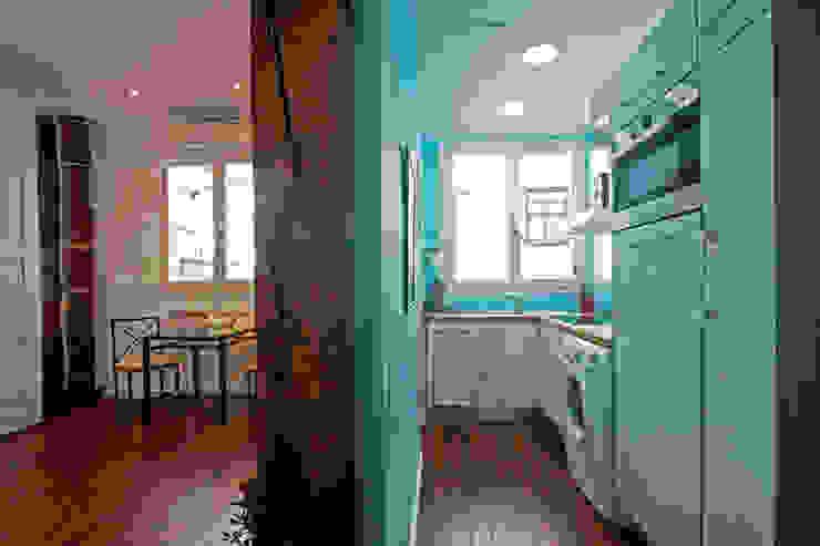 Vista Parcial Cocinas de estilo ecléctico de Ametrica & Interior, S.L. Ecléctico