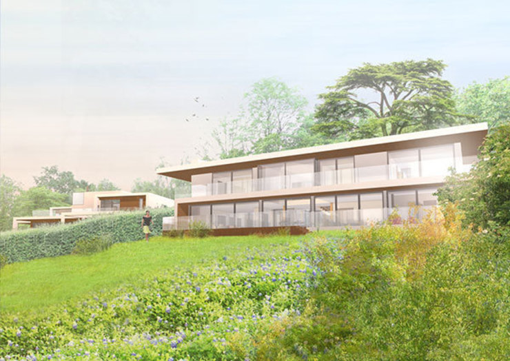 Mill Road, South Holmwood, Mole Valley, Surrey Modern houses by 4D Studio Architects and Interior Designers Modern