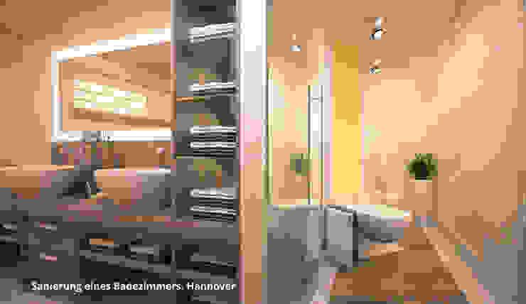 3D-Visualisierung Badsanierung:  Badezimmer von GID│GOLDMANN-INTERIOR-DESIGN - Innenarchitekt in Sehnde,
