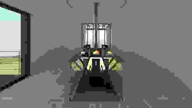 House In Nova Scotia, Canada 4D Studio Architects and Interior Designers Couloir, entrée, escaliers modernes