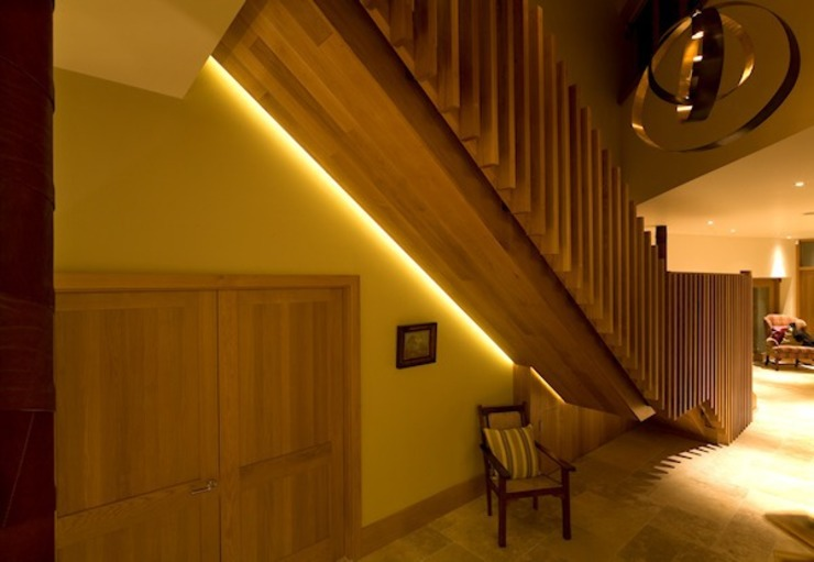 The Staircase Modern corridor, hallway & stairs by Brilliant Lighting Modern