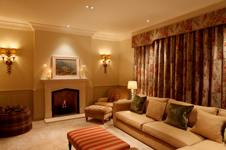 The TV Snug Brilliant Lighting Eclectic style living room