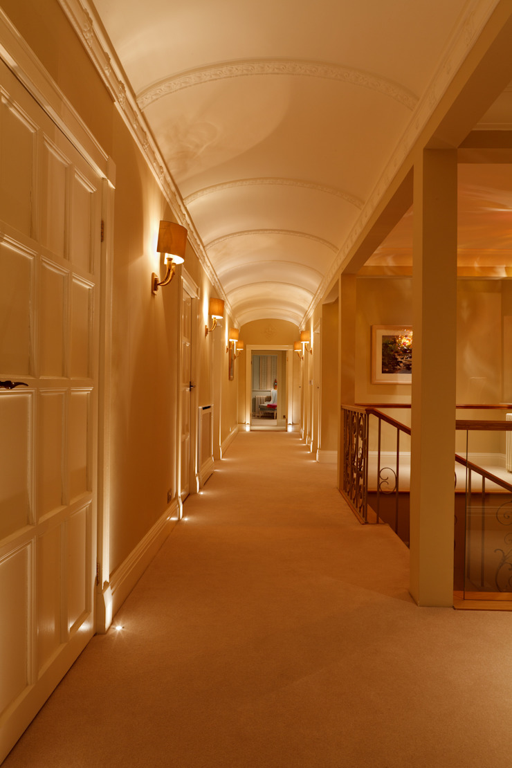 North Yorkshire Period Country House Brilliant Lighting Eclectic style corridor, hallway & stairs
