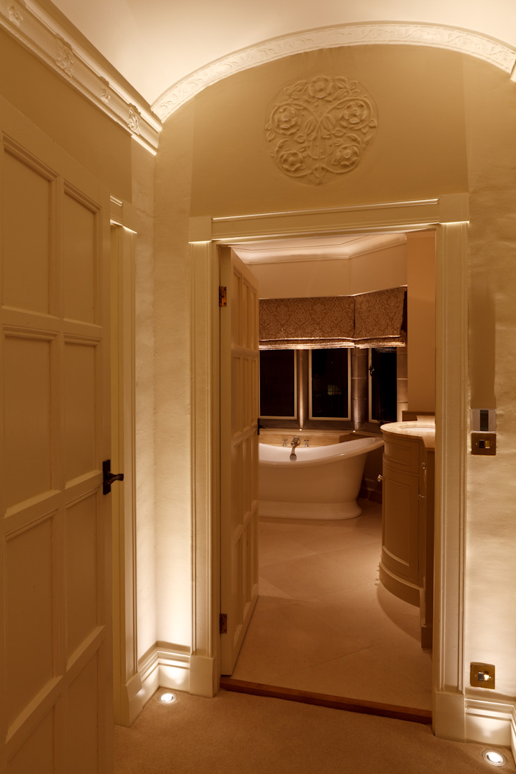 Lighting the Arts and Crafts Bathroom Brilliant Lighting Eclectic style corridor, hallway & stairs