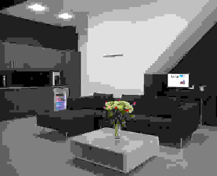 Park Royal Studios Modern media room by Amorphous Design Ltd Modern