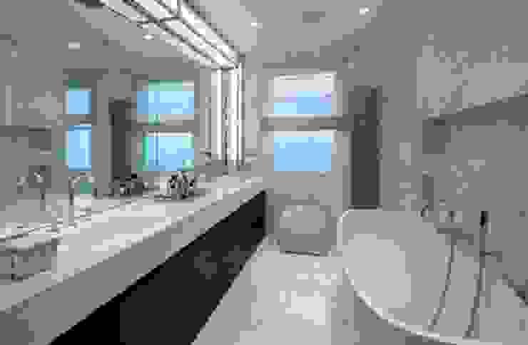 Italian marble bathroom Baños de estilo moderno de Amarestone Moderno