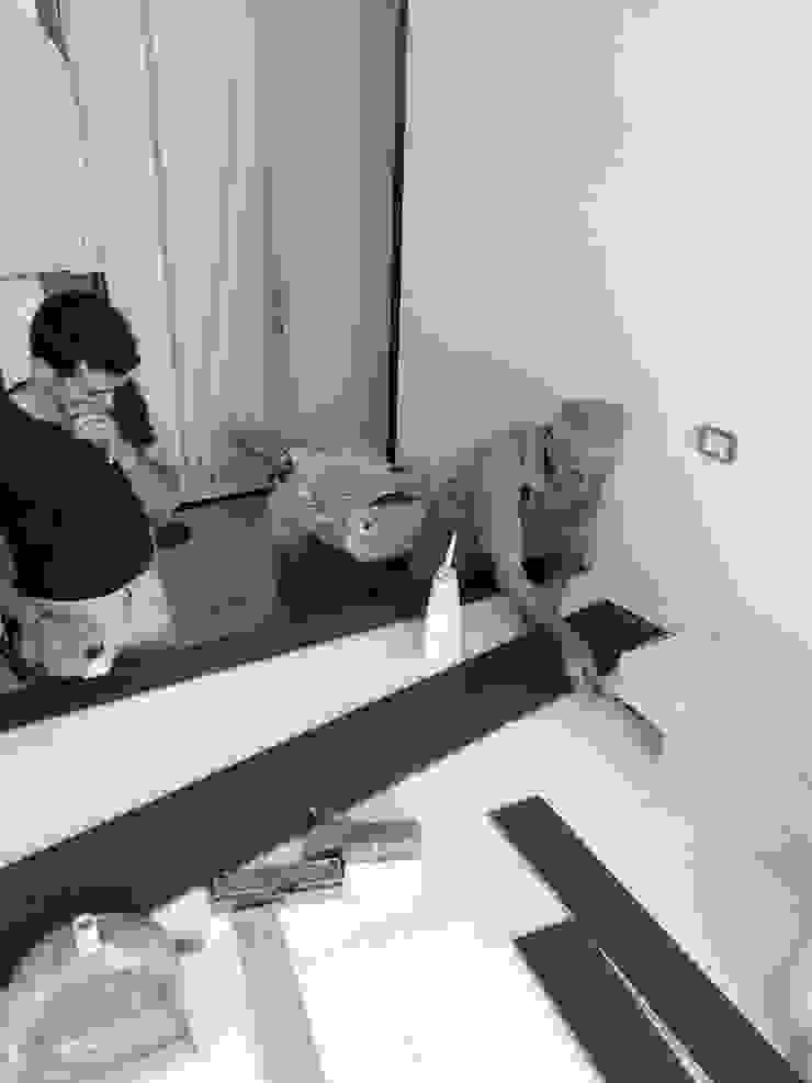 Casa MB_pedana_work in progress Pareti & Pavimenti in stile moderno di laboratorio di architettura - gianfranco mangiarotti Moderno