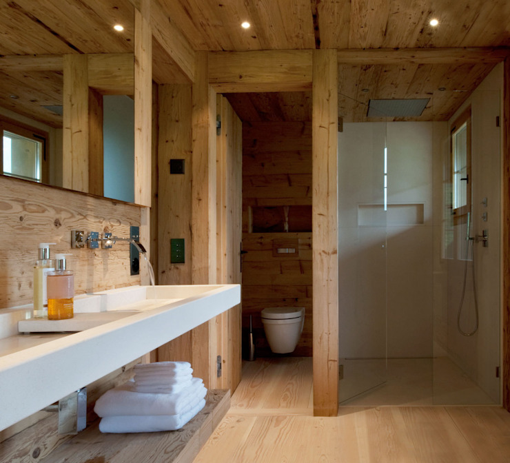 Chalet Gstaad Ardesia Design Rustic style bathrooms