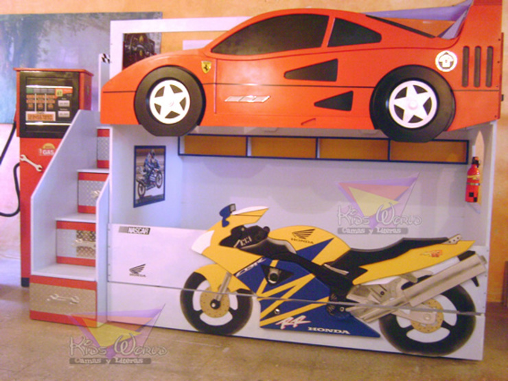 Litera Ferrari -Motocicleta de Kids Wolrd- Recamaras Literas y Muebles para niños Moderno