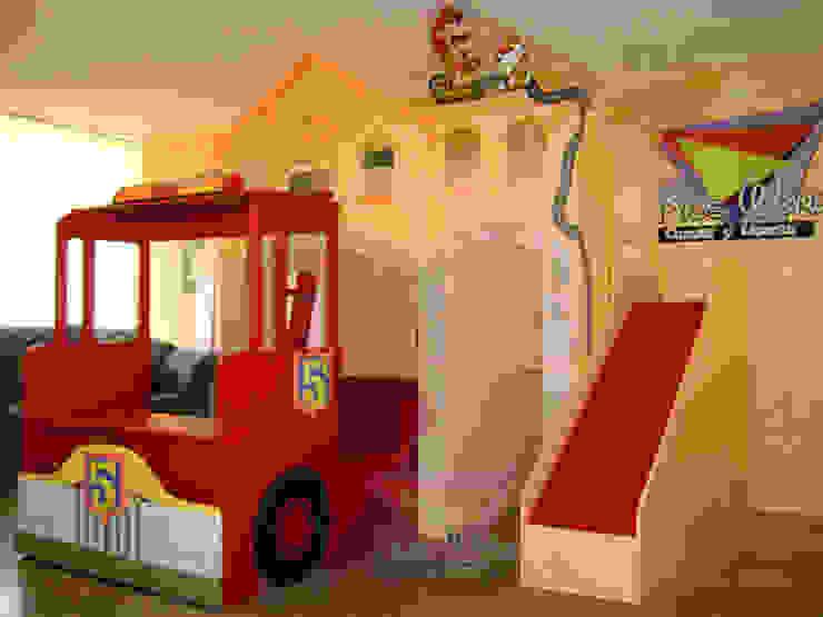 Fabulosa litera casita bombero de Kids Wolrd- Recamaras Literas y Muebles para niños Moderno