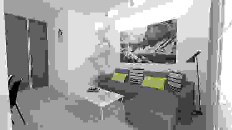 Salas de estar modernas por WNĘTRZNOŚCI Projektowanie wnętrz i mebli Moderno