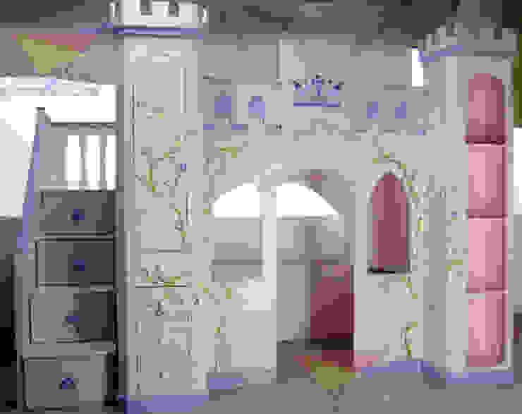 Distinguido castillo para niñas de camas y literas infantiles kids world Clásico