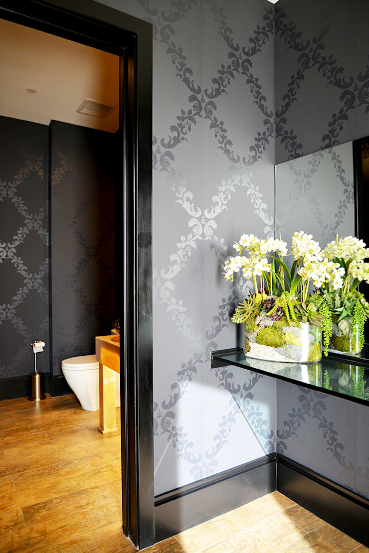Nightingale Decor, Hollywood Hills CA. 2014 Baños modernos de Erika Winters® Design Moderno