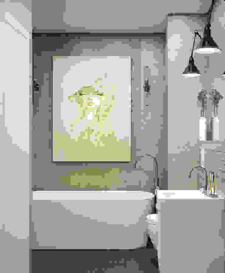 трехкомнатная квартира Ванная в стиле лофт от цуккини Лофт