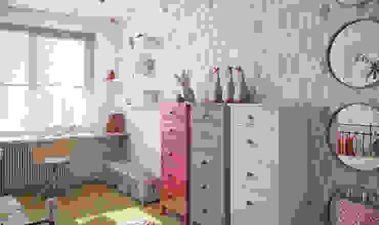 трехкомнатная квартира Детская комната в стиле лофт от цуккини Лофт