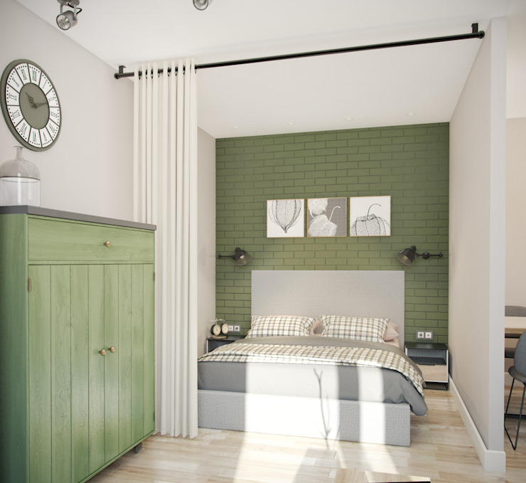 трехкомнатная квартира: Спальни в . Автор – цуккини,