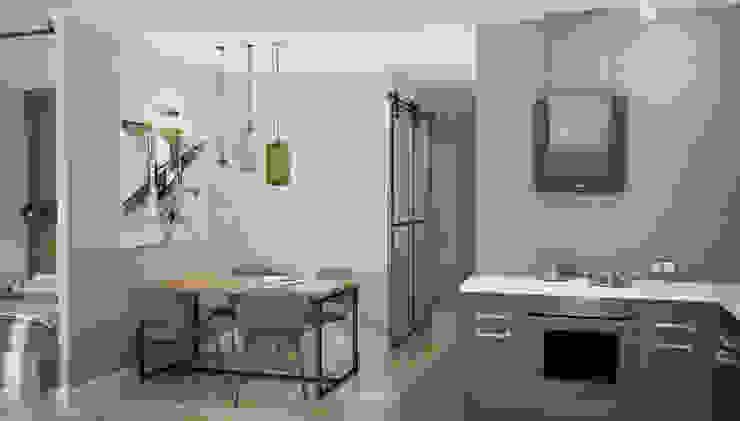 трехкомнатная квартира: Кухни в . Автор – цуккини,
