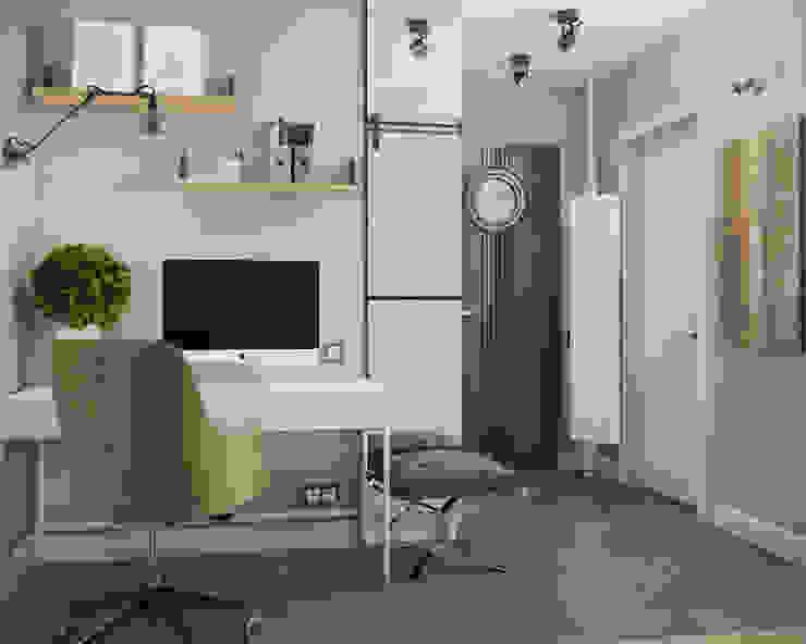 трехкомнатная квартира Коридор, прихожая и лестница в стиле лофт от цуккини Лофт