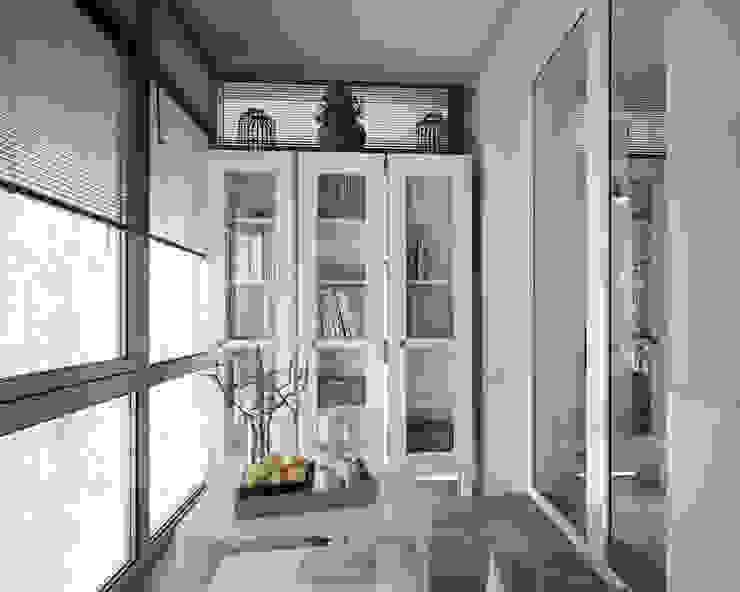 трехкомнатная квартира Балкон и веранда в стиле лофт от цуккини Лофт