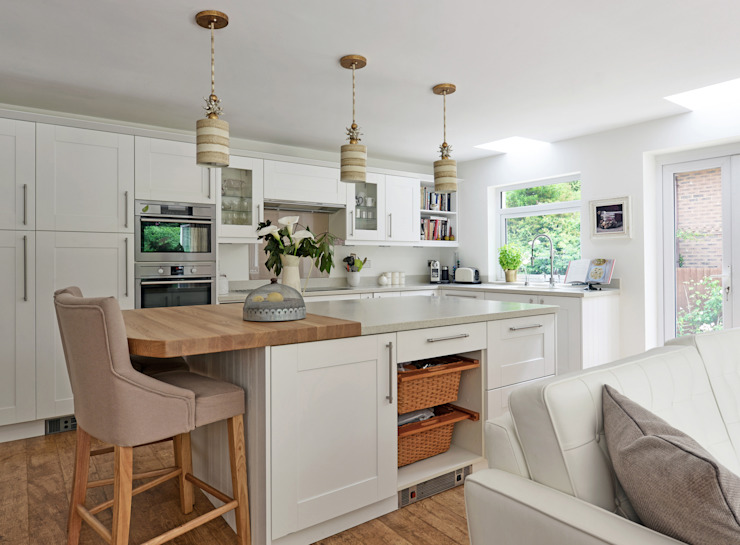 Contemporary take on a French Country Kitchen Eclectic style kitchen by At No 19 Eclectic