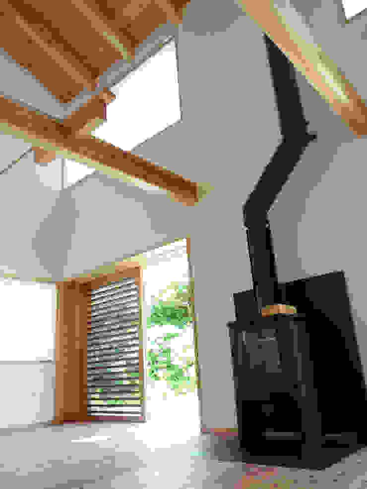網戸のある引き戸 オリジナルデザインの リビング の T設計室一級建築士事務所/tsekkei オリジナル