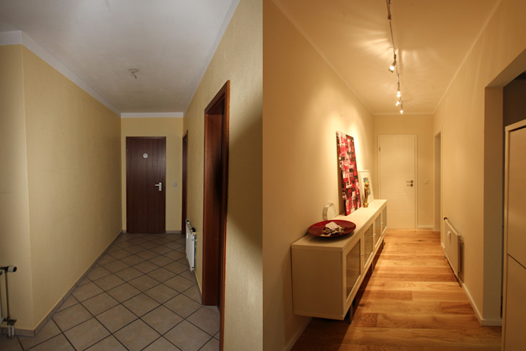 Kleiner Flur mit großer Wirkung: modern  von Wohnwert Innenarchitektur,Modern