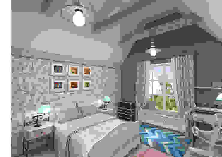 Dormitorios de estilo rústico de Студия Маликова Rústico