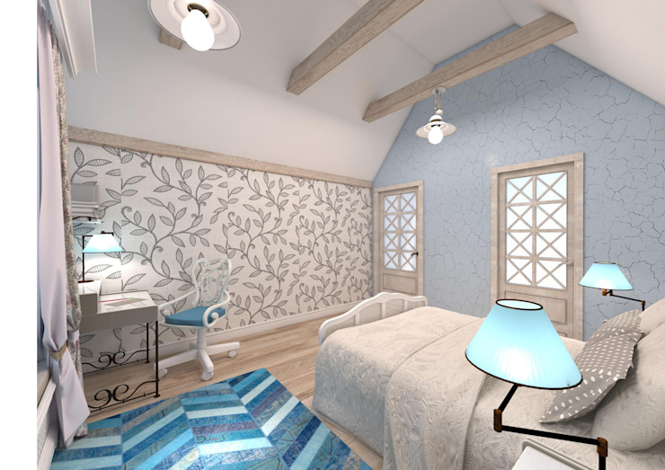 Rustic style bedroom by Студия Маликова Rustic