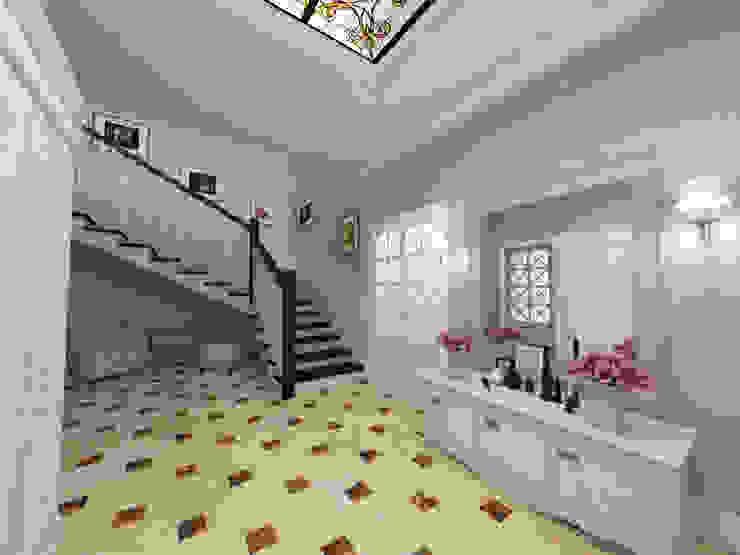 Кубанский прованс Студия Маликова Коридор, прихожая и лестница в эклектичном стиле