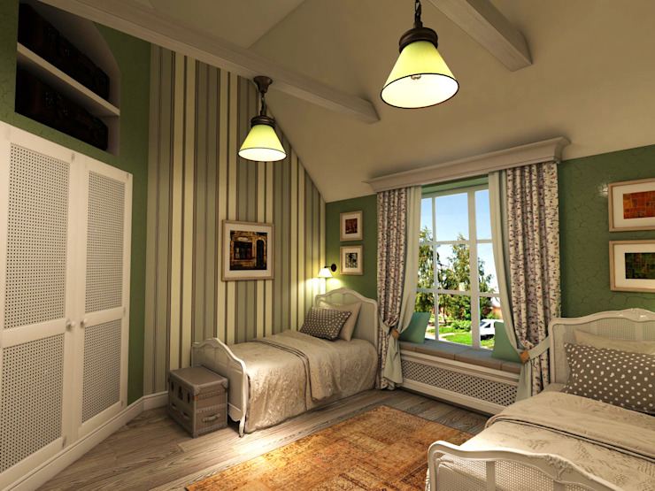 Country style bedroom by Студия Маликова Country