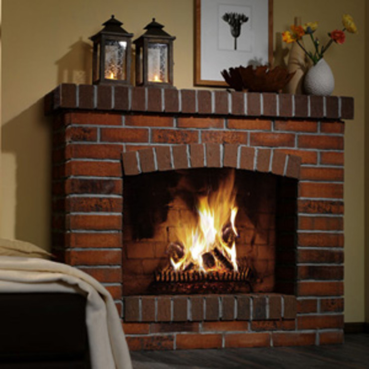 Fire place par Fourways ML - The Brick Panels Rustique