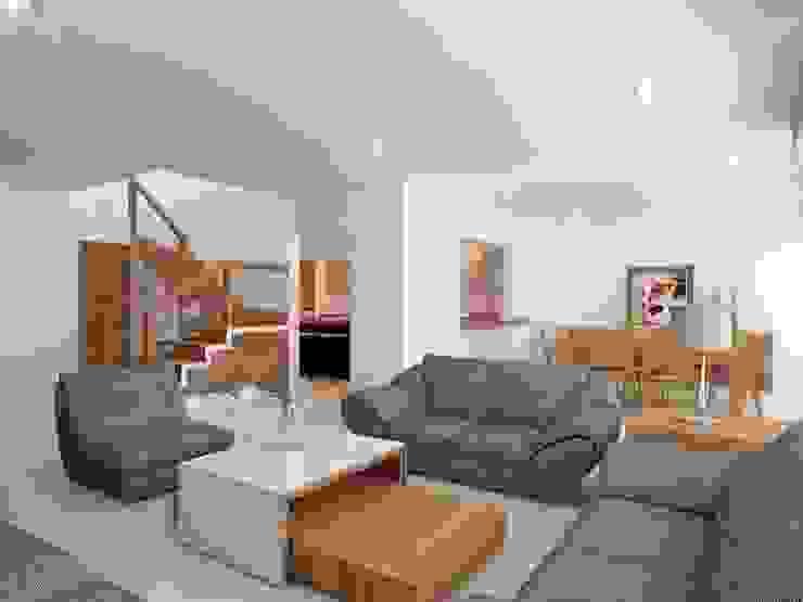 MODERNIDAD Y CALIDEZ SE PUEDEN UNIR Casas modernas de SYD CONSTRUCTORES Moderno