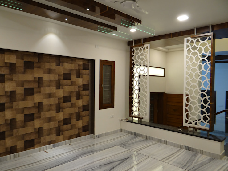 MDF Grill Board Partition: modern  by Hasta architects,Modern
