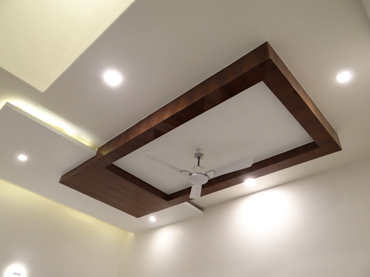 Dinning room ceiling Modern dining room by Hasta architects Modern