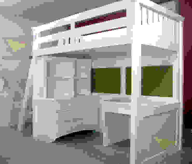 Cama alta con escalera inclinada de camas y literas infantiles kids world Minimalista