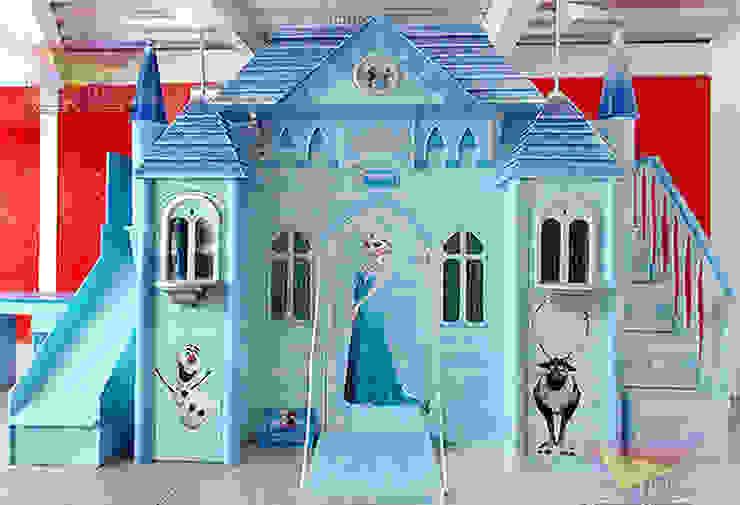 Impactante castillo de Elsa de camas y literas infantiles kids world Clásico