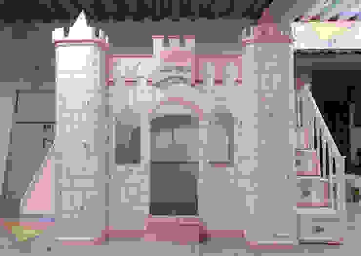 Hermoso castillo para niñas en rosa de camas y literas infantiles kids world Clásico