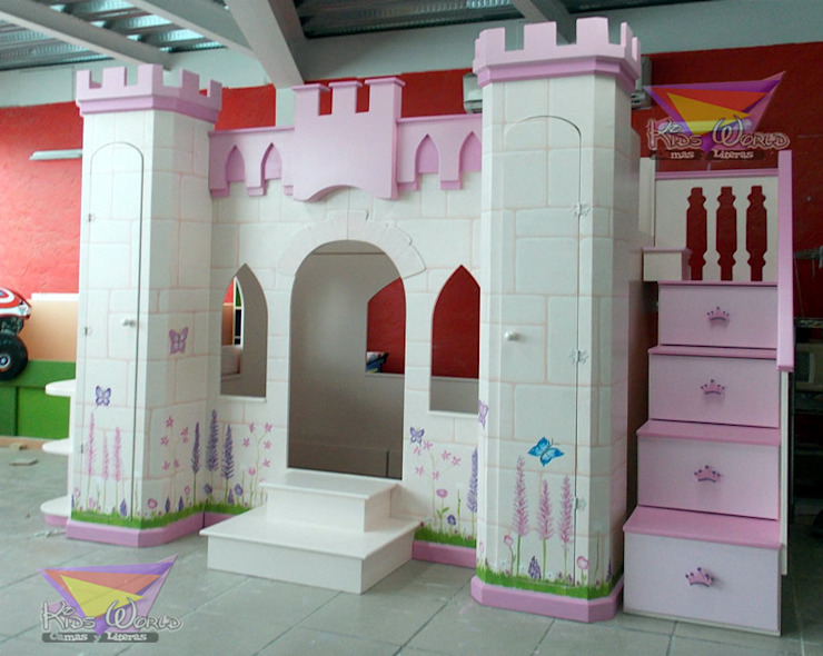 Castillo Litera para niñas de camas y literas infantiles kids world Clásico