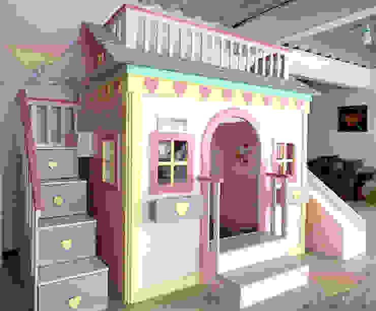 Casita litera para niñas de corazones de camas y literas infantiles kids world Clásico