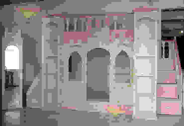 Castillo en rosa para niñas de camas y literas infantiles kids world Clásico