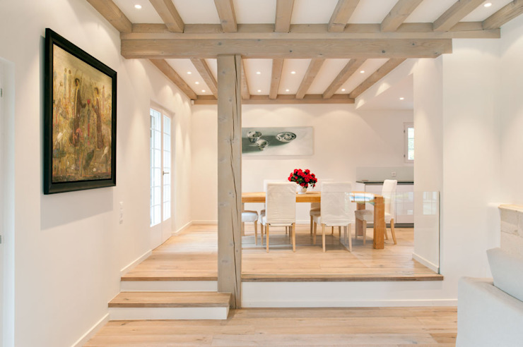 Canton De Vaud, Switzerland Rustic style dining room by Ardesia Design Rustic