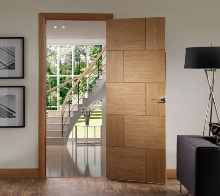 Ravenna Oak Internal Door Prefinished por Modern Doors Ltd Moderno Derivados de madeira Transparente