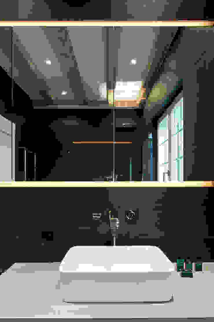 Canton De Vaud, Switzerland Ardesia Design Rustic style bathrooms