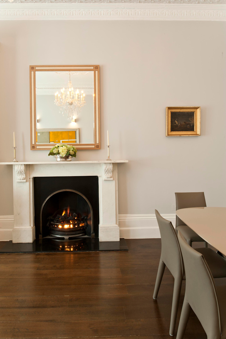 Redcliffe Gardens Ardesia Design Living roomFireplaces & accessories