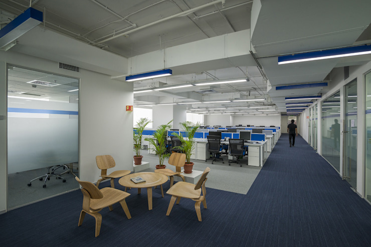 Multifonds Bangalore Offices Modern offices & stores by Ardesia Design Modern