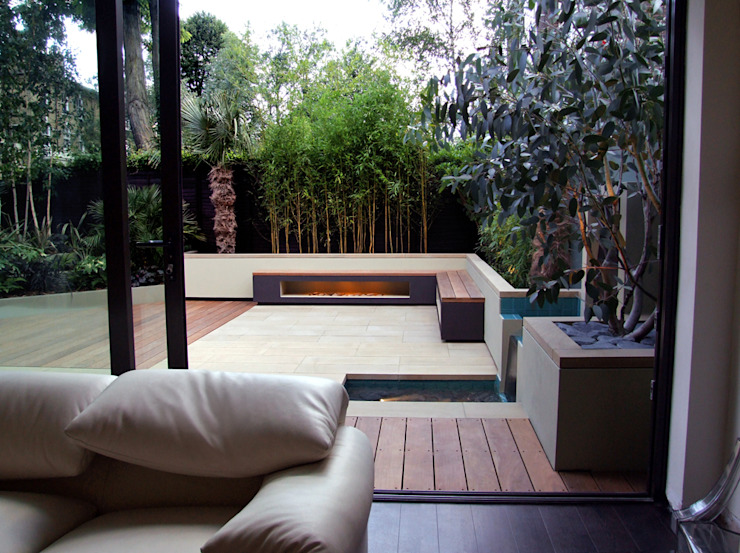 Indoor-outdoor fluidity Modern garden by MyLandscapes Garden Design Modern