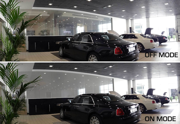 Vidrios de privacidad Modern car dealerships