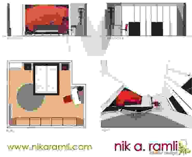 Sleeping Beauty Modern style bedroom by Nik A Ramli Interior Design Modern